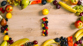 Fruits made letter I Stock Image