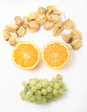 Fruits make a smile Royalty Free Stock Images
