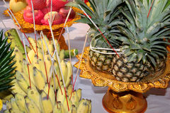 Fruits for making offerings Stock Image