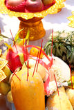 Fruits for making offerings Royalty Free Stock Images