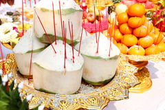Fruits for making offerings Stock Images