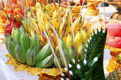 Fruits for making offerings Royalty Free Stock Photo