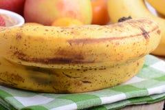 Fruits, mandarin and bananas, food Stock Image