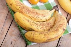 Fruits, mandarin and bananas, food Royalty Free Stock Images