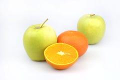 Fruits mandarine et pomme Photographie stock