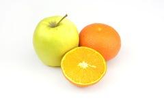Fruits mandarine et pomme Images stock