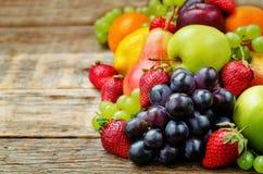 Fruits. mango, lemon, plum, grape, pear, orange, Apple, banana, Royalty Free Stock Photo