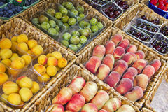 Fruits in a market Royalty Free Stock Images