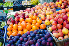 Fruits at the market Stock Images