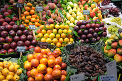 Fruits at market in Barcelona Spain Royalty Free Stock Photography