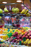 Fruits on  market counter Royalty Free Stock Image