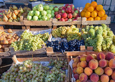 Fruits at the market in Derbent Stock Image