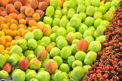 Fruits in market display Stock Image