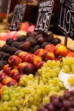 Fruits market, in La Boqueria,Barcelona famous marketplace Royalty Free Stock Photos