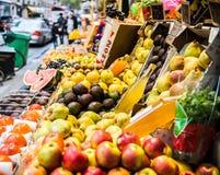 Fruits market in Paris. Various fruits market in Paris street Royalty Free Stock Photos
