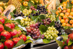 Fruits on the market stall Stock Photography