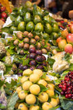 Fruits on the market stall Stock Images