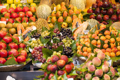 Fruits on the market stall Stock Photo