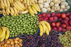 Fruits at a market stall Stock Photo