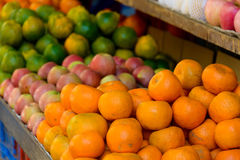 Fruits on a market stand Stock Photo