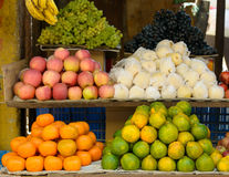 Fruits on a market stand Stock Image