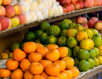 Fruits on a market stand Royalty Free Stock Photography