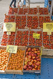 Fruits at a marketplace Royalty Free Stock Photos