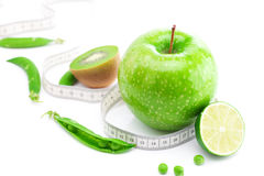 Fruits and measure tape Royalty Free Stock Image