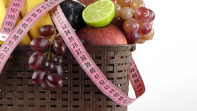 Fruits and Measurement Fit Life Concept Stock Photos