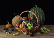 Fruits and melons Royalty Free Stock Photo