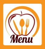 Fruits menu design Stock Images