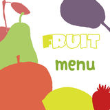 Fruits menu design template. Healthy food Royalty Free Stock Images