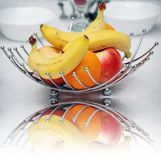 Fruits in a metal basket Royalty Free Stock Photography