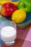 Fruits and milk Royalty Free Stock Images