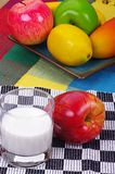 Fruits and milk Stock Photo