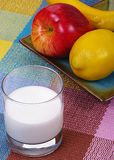 Fruits and milk Royalty Free Stock Image