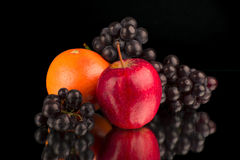 The fruits on the mirror Royalty Free Stock Photography