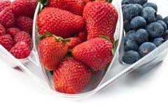 Fruits mix packaged closeup stock photos