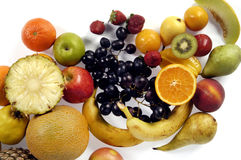 Fruits,mixed fruits with a white background Stock Image
