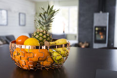 Fruits in a modern living room Stock Photography