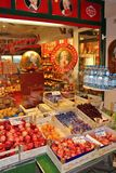 Fruits and Mozartkugeln in Salzburg Royalty Free Stock Image