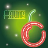 Fruits neon sign royalty free illustration