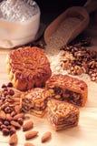 Fruits nut mixture moon cake Royalty Free Stock Photo