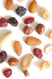 Fruits and nuts Royalty Free Stock Photography