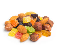 Fruits and nuts Stock Photos
