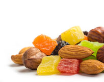 Fruits and nuts Stock Photography