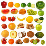 Fruits and nuts collection Royalty Free Stock Images