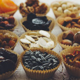 Fruits Nuts et secs Photos libres de droits