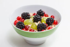 Fruits and oatmeal Royalty Free Stock Image
