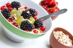 Fruits and oatmeal Royalty Free Stock Photography